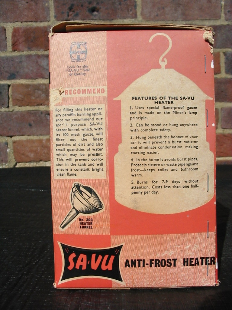 """SA-VU"" anti-frost heater"